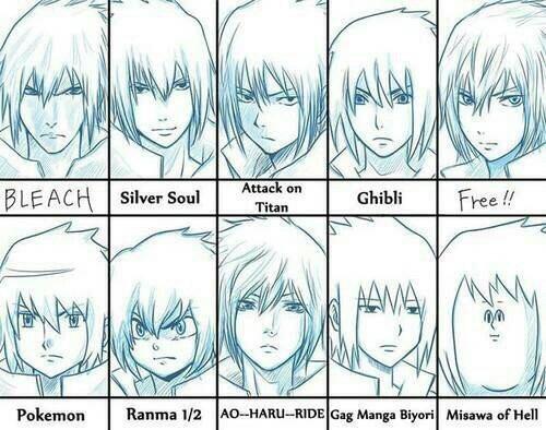 ➡Voici quelques coupes de Sasuke-.⬅