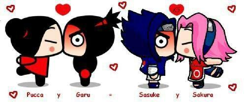 ➡Puka and Garu et Sakura and Sasuke.. ⬅
