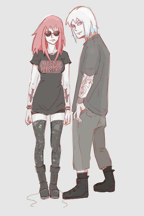➡Nouveau style de Sasuke et Sakura puis Suigetsu et Karin