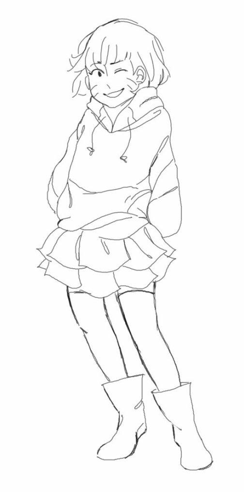 ➡Deux petits dessins des enfants Uzumaki