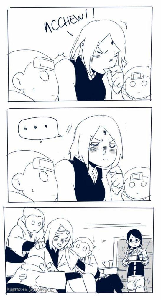 ➡Et voilà Sakura soigne et fini part tomber elle même malade..