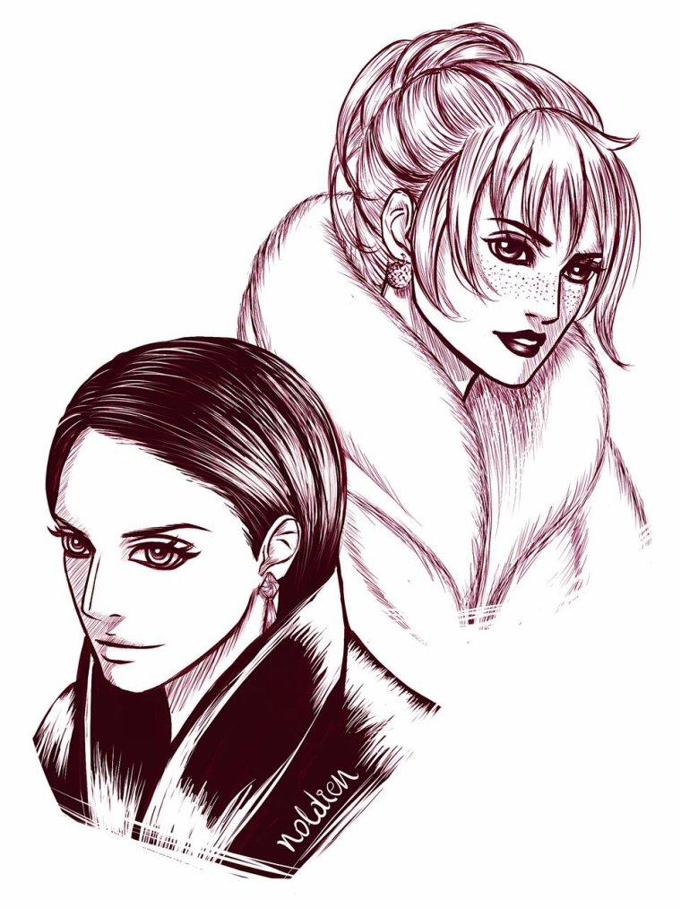 ➡Deux magnifique jeunes filles.