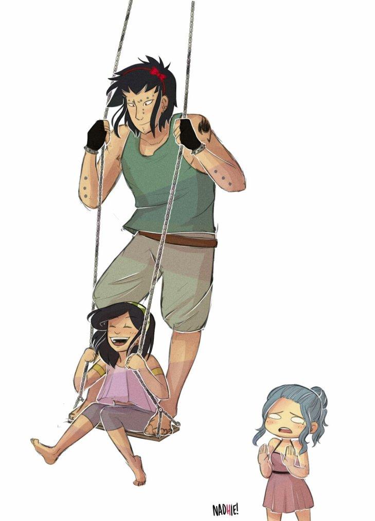 Gadjeel, qui fait l'imbecile avec sa fille