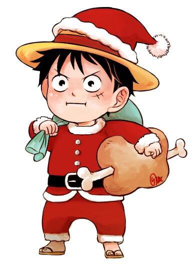 Noel avec Zoro,Sanji,Luffy et Chopper