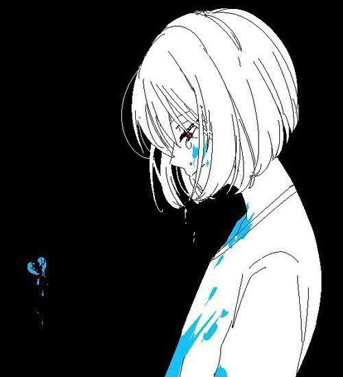 Une fille en larme