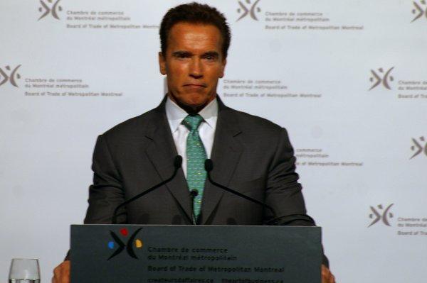 Arnold Schwarzenegger en conférence à la CCMM