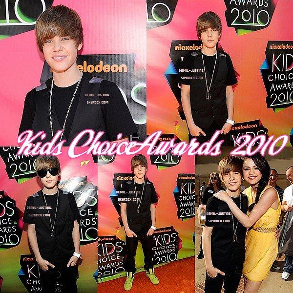 FlashBack : Spécial Kids Choice Awards 2010 , nos deux stars Demi et Justin étaient sur le tapis orange des « Kids Choice Awards 2010 » à L.A. Le 27 Mars de l'année derniere