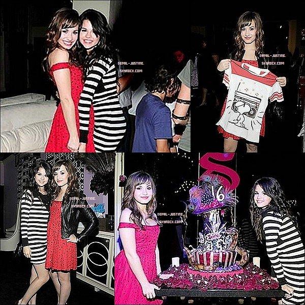 FlashBack - 22.07.09 - Demi a été au 16 eme anniversaire de son ex-best friends Selena. Demi a été manifique tu trouves pas ?