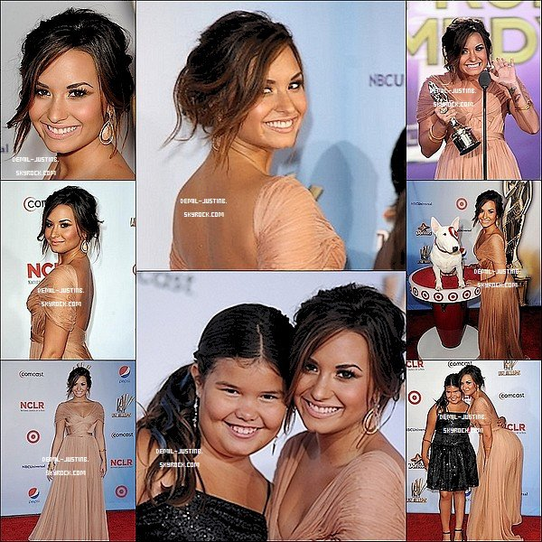 10.09.11 - Demi a été au ALMA Awards 2011 avec une robe Sublime ! + des Photoshoot de la Miss Lovato - 08.09.11 - Justin s'est rendu à l'événement Dolce & Gabbana Celebrates Fashion's Night Out. Plutot Styler le Bieber ! + des deux photos de Twitter de Justin.