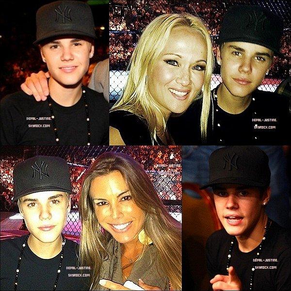 """02.07.11 - Justin a été aux combats UFC - 01.07.11 - Demi a passéla soirée avec amies + la couverture de son nouveau single apellé """"Skyscraper""""."""