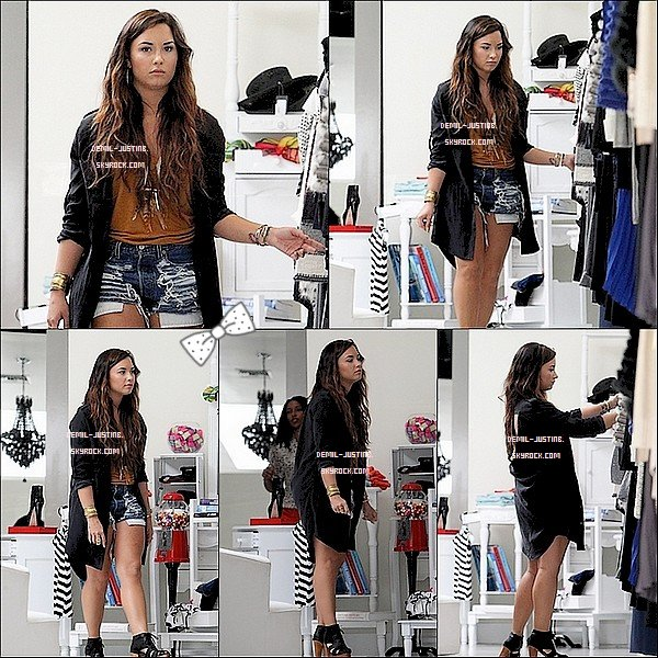 Du coté de Justin il y a pas de news mais il a postée deux nouvelles photos de son compte Instagram - 15.08.11 - Demi a été vue dans la boutique Alicia + Olivia en train de faire du shopping. Top ou Flop ?