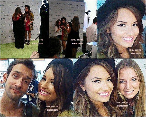 Du coté de Justin,il a postée des photos sur son compte @instagram - 25.08.11 - Demi a été faire du vélo dans la matinée avec une amie en se rendant au restaurant Mel's Drive. + Dans l'après-midi, Demi a organisé un Meet & Greet avec ses fans au magasin AT&T à LA