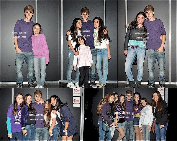 13.10.11 - Justin a posé avec des fans en Argentine - 13.10.11 - Le meme jour,Demi a été à l'émission « New Music Live » à Toronto en Canada. - 12.10.11 - Demi a été vu à l'aéroport de Toronto au Canada. Top ou Flop ?