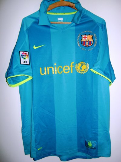 maillot thierry henry Barcelone 2007/2008