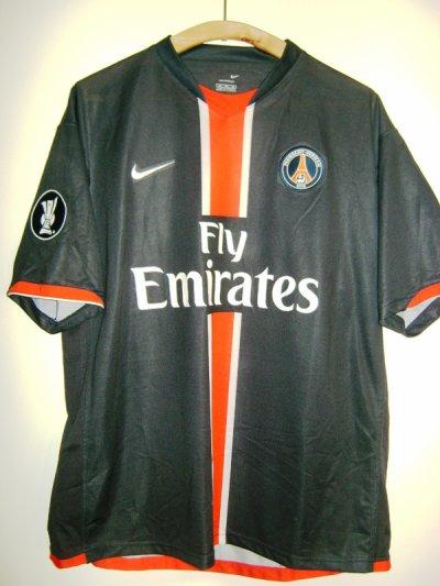 maillot PSG porté Coupe de l'uefa 2006/2007