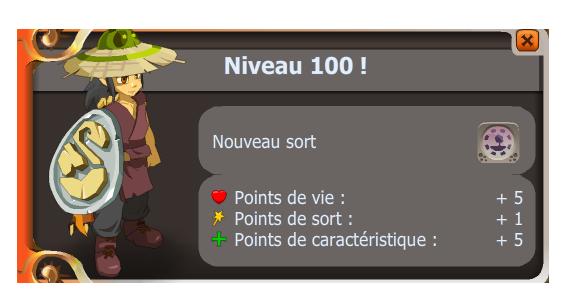 Le level 100 !