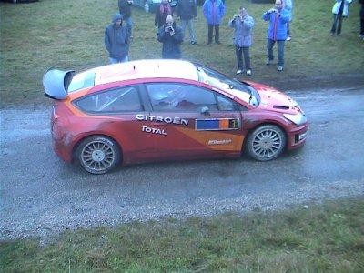 Sébastien LOEB et Daniel ELENA lors des essais de la C4 WRC le 06/12/06 en Ardèche en vue du Rallye Monté Carlo en 01/2007