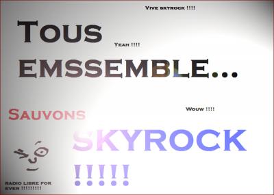 Sauvons Skyrock :) YoannDraw à la rescousse :p