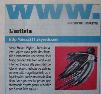 ARTICLE  dans La Vie de la Moto n°639.13 Janvier 2011