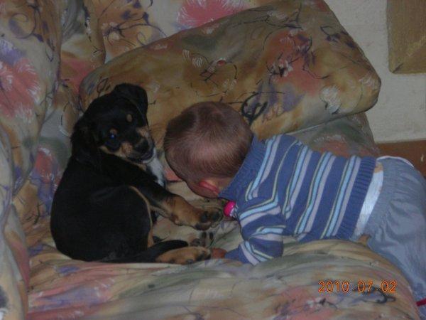 Mathis et mon chien Tango