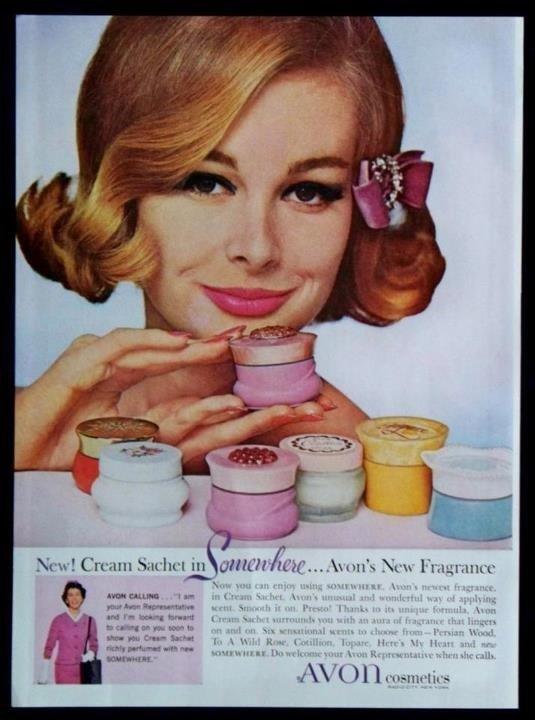affiche Avon des années 50 !