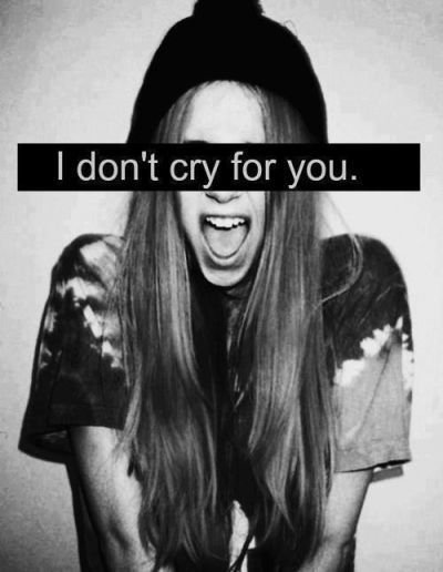And you cry again ...