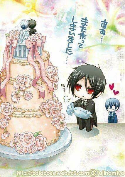 Le gâteau de mariage!