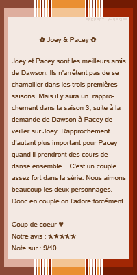 •○•DUO SERIE•○• PACEY & JOEY•○• DECORATION•○•CREATION•○•NEWSLETTER •○•BOUTIQUE •○•