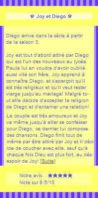 •○•DUO SERIE•○• Physique ou chimie •○• Joy & Diego•○• DECORATION•○•CREATION•○•NEWSLETTER •○•BOUTIQUE •○•