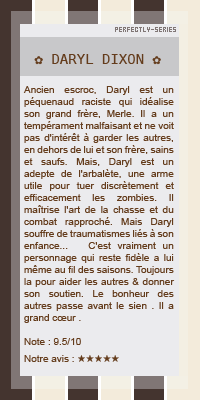 •○•PERSONNAGE SERIE•○• The walkind dead •○• Daryl Dixon•○• DECORATION•○•CREATION•○•NEWSLETTER •○•BOUTIQUE •○•