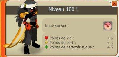 Sacri up niveau 100.