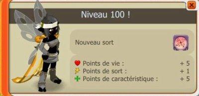 Up éni niveau 100.