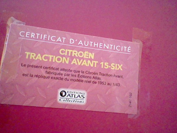 N° 2 : Citroën Traction Avant 15-Six