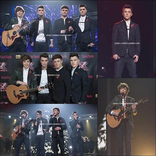 Photos de la performance des garçons à X Factor le samedi 10 novembre !
