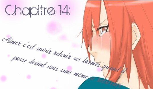 Chapitre 14:Aimer c'est savoir retenir ses larmes quand il passe devant vous sans même se retourner
