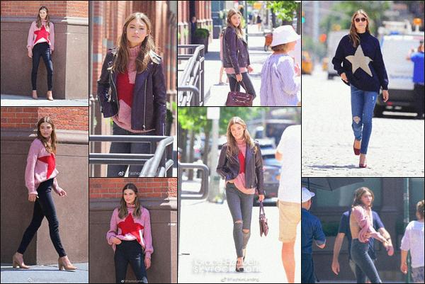 - -17 juillet 2019 •• Grace Elizabeth a été vu sur le set d'un shoot pour une marque encore inconnue à NY. -