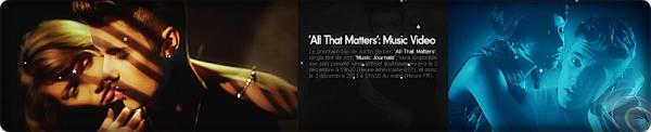 """Nouveau """"Teaser """" de All that Matters !  Sortie prévue pour le 12.02.13 ♥   Personnellement j'adore !   Alors vous aimez ?"""