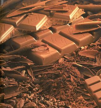 →  Le chocolat , c'est aussi essentiel que le coeur pour vivre !