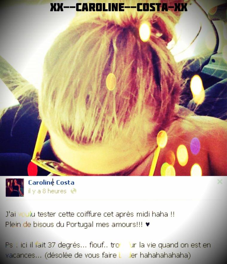 Caroline a voulu téster une nouvelle coiffure ! :D