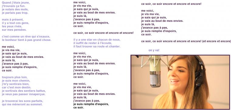 Caroline va doublé la voix de Barbie.