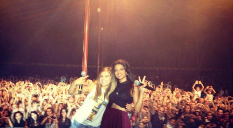 Caroline costa au concert a Lyon  Chassieu.