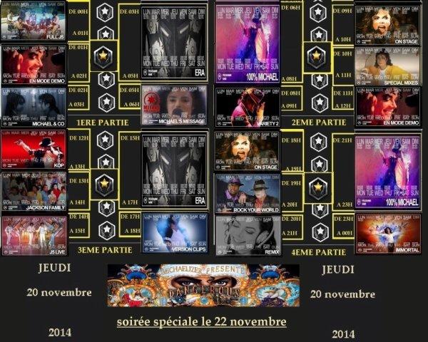 voici le programme du jour jeudi 20 novembre