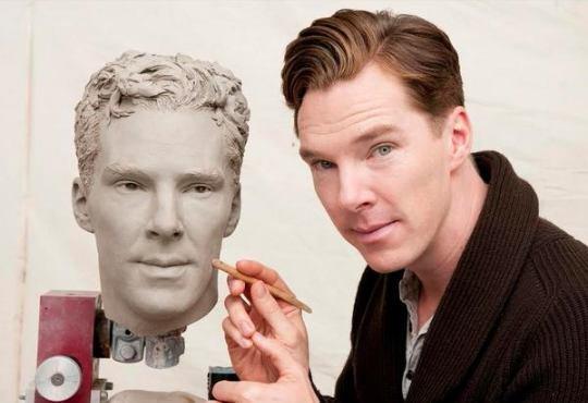 Le visage de Benedict, bientôt Terminé chez Madame Tussaud !