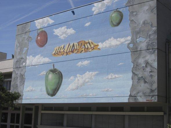 Graffiti Collège de la Concorde Chavannes-près-Renens vd