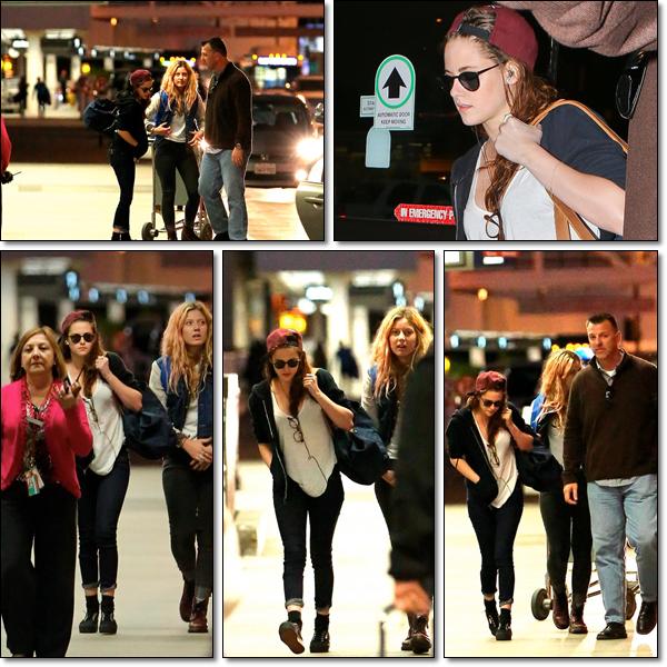 27/12/12 -> Aéroport LAX.Départ pour Londres, pour le nouvel an avec Rob' (probablement).