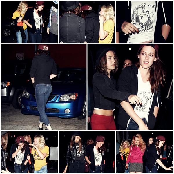 CANDID |17/04/13 | Kristen avec des amis au concert de Marcus Foster à LA.