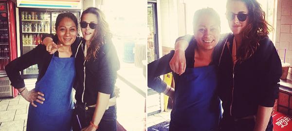 CANDID | 08/06/13 | Kristen avec une fan à Malibu.