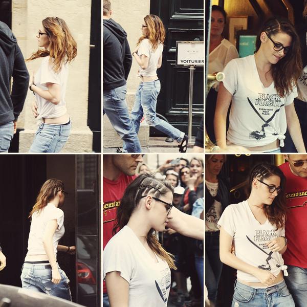 CANDID | 04.05.13 | Kristen est allé déjeuné au restaurant Le Castiglione à Paris.