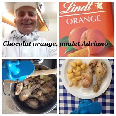 Pollo al cioccolato arancia all'Adriano_Penne  a  la  napolitana _Massels  au gratin _ Farro alla Lucchese _ Cacciucco  alla  Livornese _ Okroska  _ Torta de Nuez + Court-bouillon + Chantilly + Viennese beef soup +