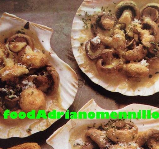 calzone ripieno  _Pizza fritta alla napoletana _ Pizza ( 5 recettes )_Funghi in conchiglia_crostata meringata _Bistecca  alla  Bismark + Zuppa di fagioli all'americana